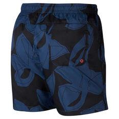 Nike Mens Sportswear Woven Floral Shorts Navy XS, Navy, rebel_hi-res