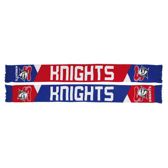 Newcastle Knights Geo Jacquard Scarf, , rebel_hi-res
