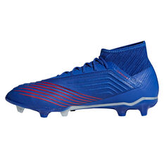 adidas Predator 19.2 Mens Football Boots, Blue / Silver, rebel_hi-res