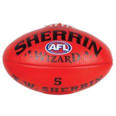 Sherrin Wizard Australian Rules Football Red 2, Red, rebel_hi-res