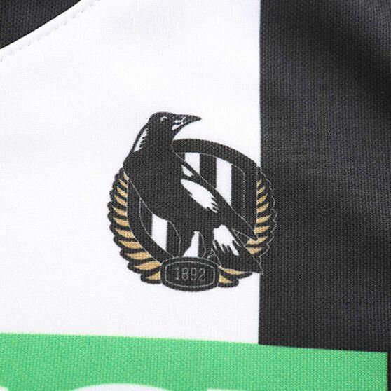 Collingwood Magpies 2020 Kids Away Guernsey, Black / White, rebel_hi-res