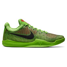 Nike Mamba Rage Mens Basketball Shoes Green / Red US 7, Green / Red, rebel_hi-res