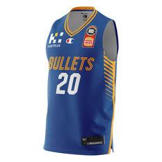 Brisbane Bullets Nathan Sobey 20/21 Mens Home Jersey, Blue, rebel_hi-res