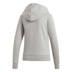 adidas Womens Essentials 3 Stripes Fleece Hoodie Grey XS, Grey, rebel_hi-res