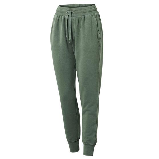 Ell & Voo Womens Savannah Fleece Pants, Green, rebel_hi-res