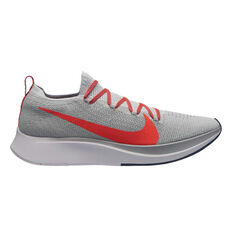 Nike Zoom Fly Flyknit Mens Running Shoes Grey / Red US 7, Grey / Red, rebel_hi-res