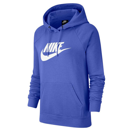 Nike Womens Sportswear Essential Fleece Pullover Hoodie, Blue, rebel_hi-res