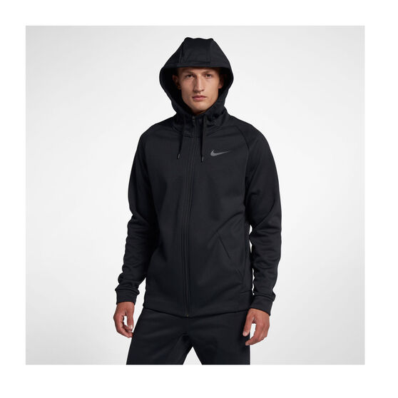 Nike Mens Therma Full Zip Training Hoodie, Black, rebel_hi-res