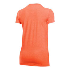 Under Armour Womens Sportstyle Crew Tee Red / White XS Adult, Red / White, rebel_hi-res