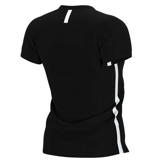 Nike Womens Dri FIT Academy19 Football Tee, Black, rebel_hi-res