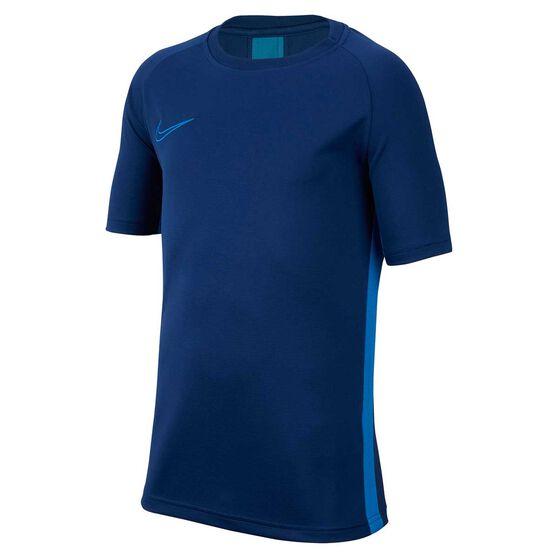 Nike Dri-FIT Boys Academy Football Top, Blue, rebel_hi-res