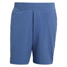 addias Mens Tennis 9-Inch Shorts Blue S, Blue, rebel_hi-res