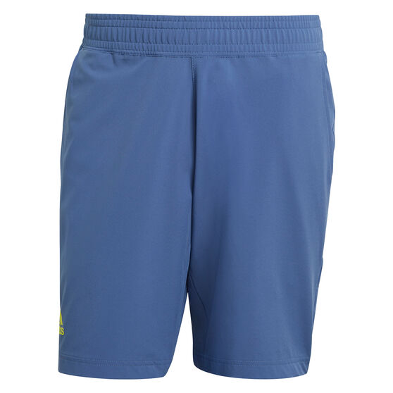 addias Mens Tennis 9-Inch Shorts, Blue, rebel_hi-res