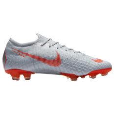 Nike Mercurial Vapor XII Elite Mens Football Boots Grey / White US 7, Grey / White, rebel_hi-res