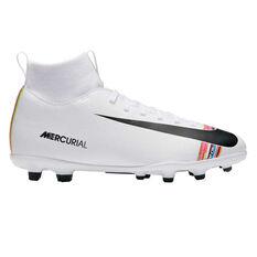 Nike Mercurial Superfly VI Club Kids Football Boots White / Black US 1, White / Black, rebel_hi-res