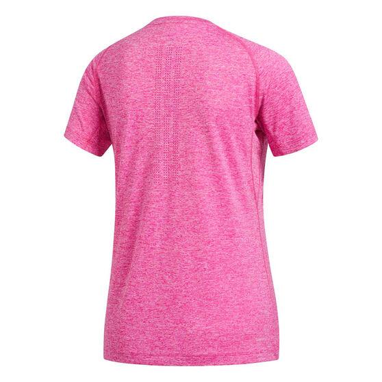 adidas Womens Prime 3 Stripe Tee, Pink, rebel_hi-res