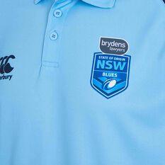 NSW State of Origin Mens Media Polo Blue S, Blue, rebel_hi-res