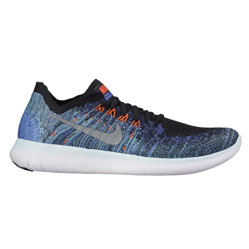 7ab12a89d5a1f Nike Free Run Flyknit 2017 Womens Running Shoes Black   Silver US 8