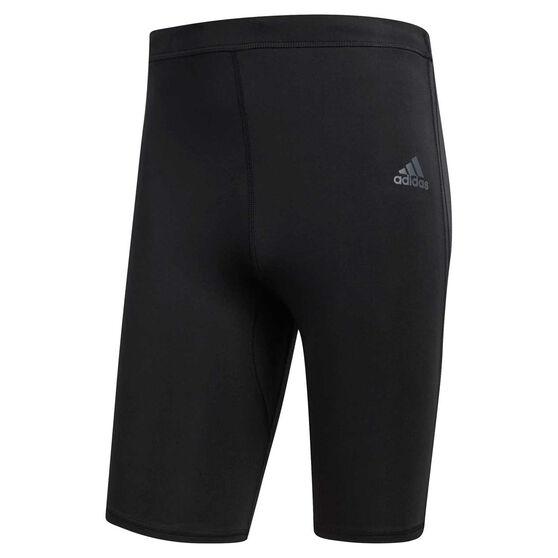 adidas Mens Response Short Running Tights Black L, Black, rebel_hi-res