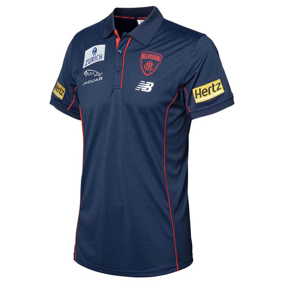 Melbourne Demons 2020 Mens Media Polo, Navy, rebel_hi-res