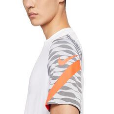 Nike Mens Dri-FIT Strike Short Sleeve Soccer Tee White S, White, rebel_hi-res