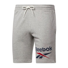 Reebok Mens Big Logo Shorts Grey XS, Grey, rebel_hi-res