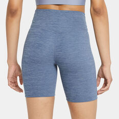 Nike One Womens Mid-Rise 7 Inch Tights Navy XS, Navy, rebel_hi-res