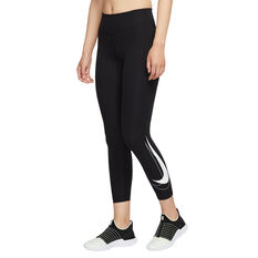 Nike Womens Swoosh Run 7/8 Tights Black XS, Black, rebel_hi-res