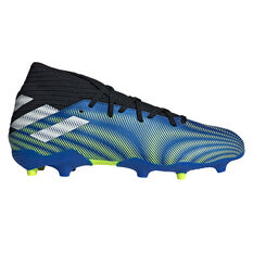 adidas Nemeziz .3 Football Boots Blue US Mens 7 / Womens 8, Blue, rebel_hi-res