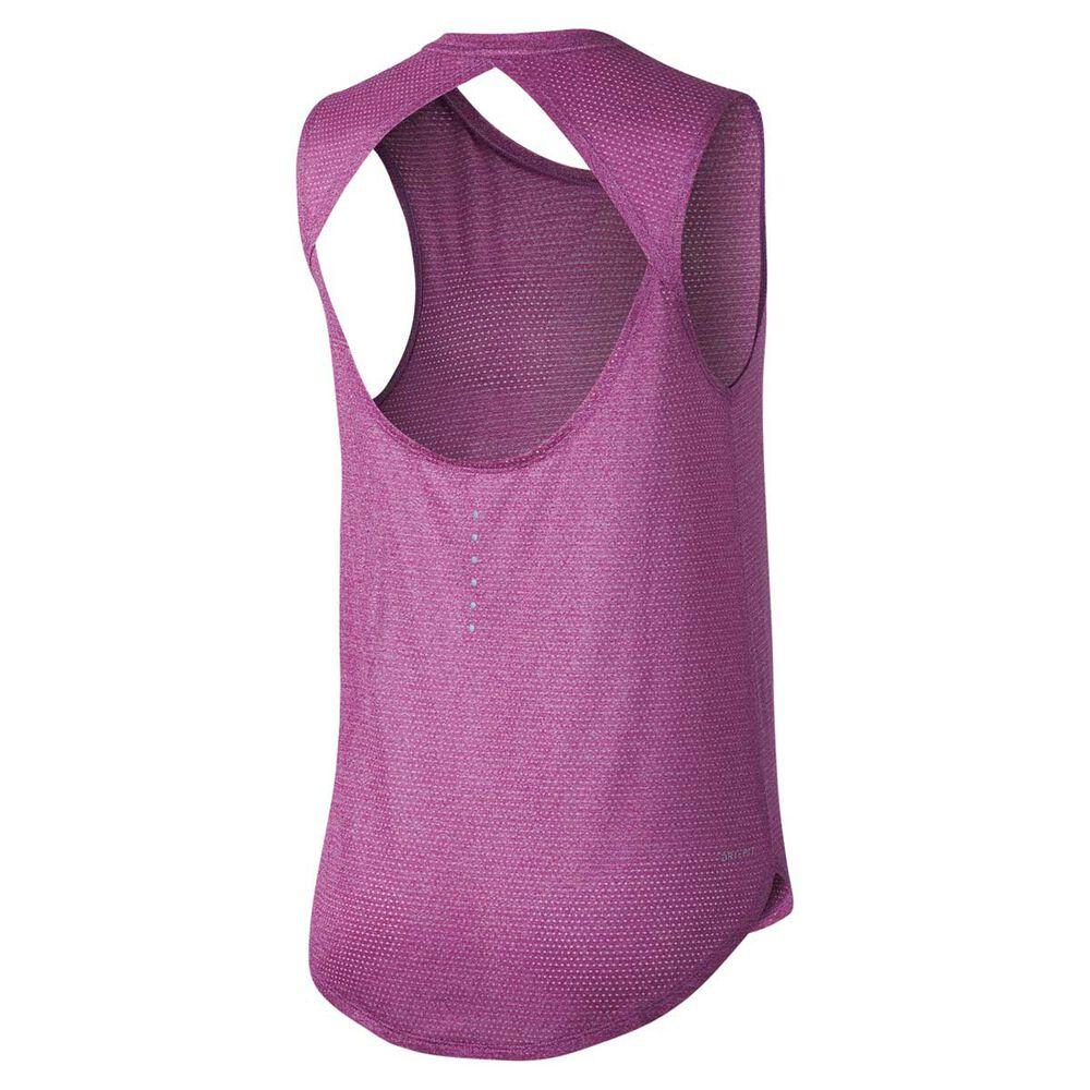 2d844309a0629 Nike Womens Breathe Running Tank Purple XS Adult