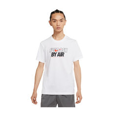 Nike Mens Sportswear Swoosh By Air Tee White XS, White, rebel_hi-res