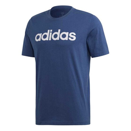 adidas Mens Essentials Linear Tee, Blue, rebel_hi-res