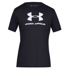 Under Armour Mens VT Sportstyle Logo Tee Black S, Black, rebel_hi-res