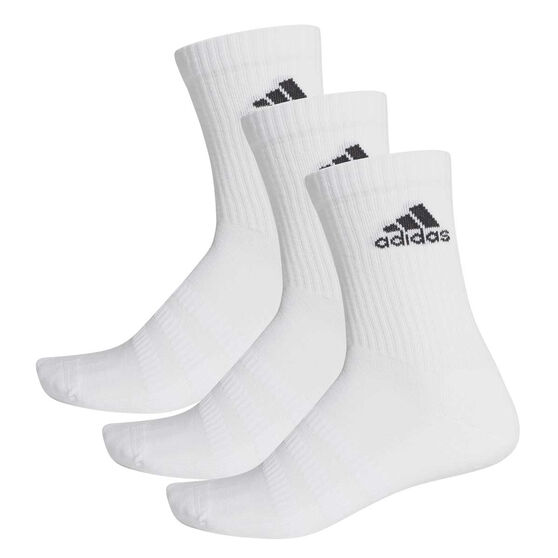 adidas Cushioned Crew Socks 3 Pack, White, rebel_hi-res