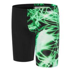 Speedo Boys School Colours Jammer Swim Shorts Green 6, Green, rebel_hi-res