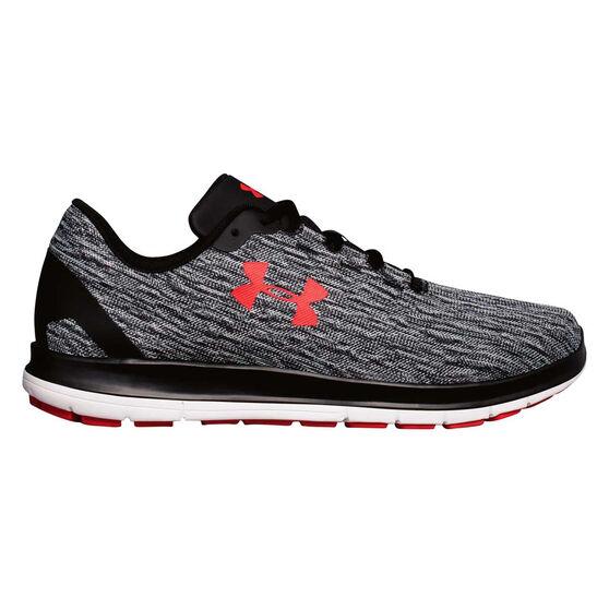 Under Armour Remix Mens Running Shoes, Black / Grey, rebel_hi-res
