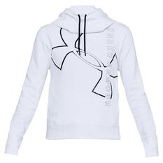 Under Armour Womens Big Logo Cotton Hoodie White XS Adult, White, rebel_hi-res
