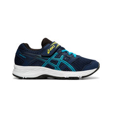 Asics Contend 5 Kids Running Shoes Navy / White US 11, Navy / White, rebel_hi-res