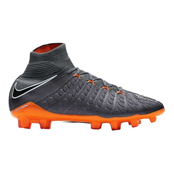 Nike Hypervenom Phantom III Elite Junior Football Boots Grey / Orange US 4, Grey / Orange, rebel_hi-res