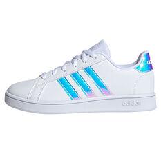 adidas Grand Court Kids Casual Shoes White/Grey US 11, White/Grey, rebel_hi-res