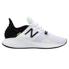 28262da1223a New Balance Fresh Foam Roav Mens Running Shoes White   Black US 7