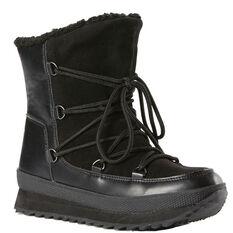 Rojo Lodge Womens Snow Boots Black 5, Black, rebel_hi-res