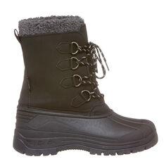 Tahwalhi Park Mens Snow Boots Black 7, Black, rebel_hi-res