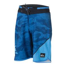Quiksilver Boys New Wave Everyday Boardshorts Blue 8, Blue, rebel_hi-res