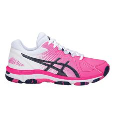 Asics Gel Netburner Super 8 Girls Netball Shoes Pink / Blue US 1, Pink / Blue, rebel_hi-res