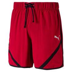 Puma Mens GetFast 7in Shorts Red / Black S, Red / Black, rebel_hi-res