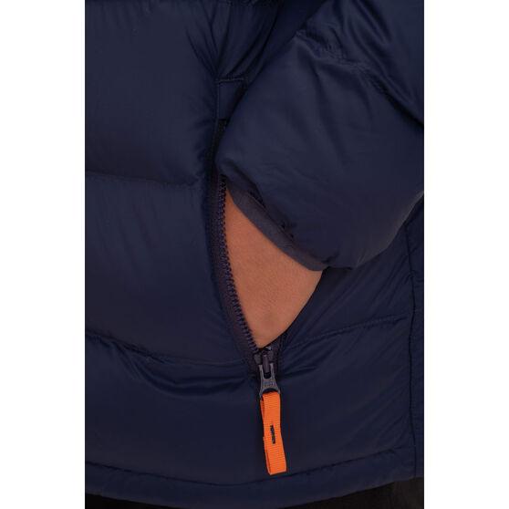 Macpac Kids Atom Hooded Jacket, Black, rebel_hi-res