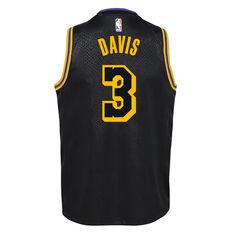 Nike Los Angeles Lakers Anthony Davis 2020/21 Kids Mamba City Edition Jersey Black S, Black, rebel_hi-res