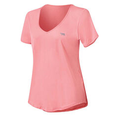 Running Bare Womens On Your Marks Tee Pink 8, Pink, rebel_hi-res
