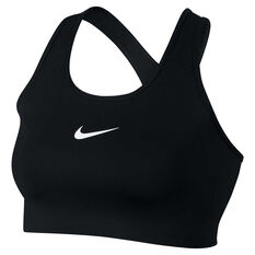 Nike Womens Swoosh Sports Bra (Plus Size) Black / White XL, Black / White, rebel_hi-res